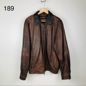 Wilsons The Leather Experts Brown Leather Jacket